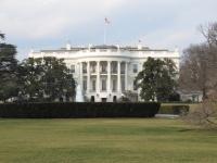 トランプ大統領が住んでいるホワイトハウス(ワシントン D.C.)