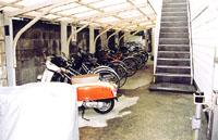 自転車置き場も常に整理しておくことで、乱雑に置かれなくという。