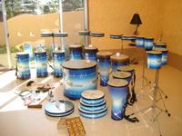 健康増進プログラム「ヘルスリズムス」に使用する打楽器一式