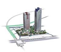 「パークシティ武蔵小杉」完成予想図。地上59階建ては日本最高層マンションとなる