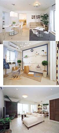 モデルルーム室内。ライフスタイルの変化に合わせ、可変性に富んだプランを提案