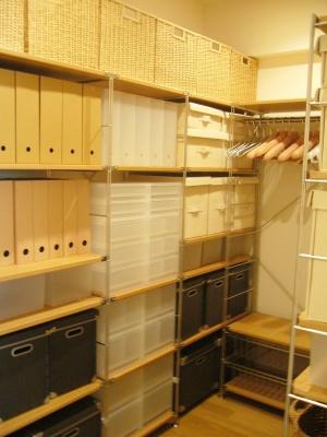 (MODEL1)の収納スペース。 ゆとりある収納で、季節物や普段使用しない物も収納可能