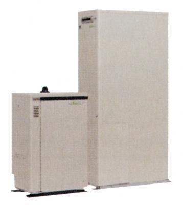 ミストサウナ普及のカギは、より効率的なガス給湯機の普及にリンクする。写真の「エコウィル」をはじめ、家庭用燃料電池を使った給湯機など、マンション用に開発していく必要がある(同社パンフレットより)
