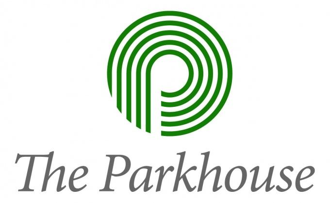 三菱地所レジデンス(株)のマンションブランド「ザ・パークハウス」ロゴタイプ。アルファベットのPを5本の線が形どっており、5本の線は、人、未来、環境、伝統、街をそれぞれ表す