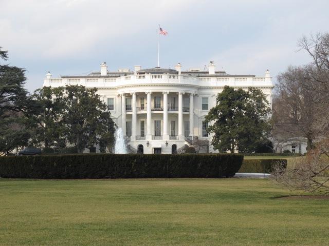 ホワイトハウス。ここで大統領は執務をとる。また、大統領一家の住まいでも... vol.221 空