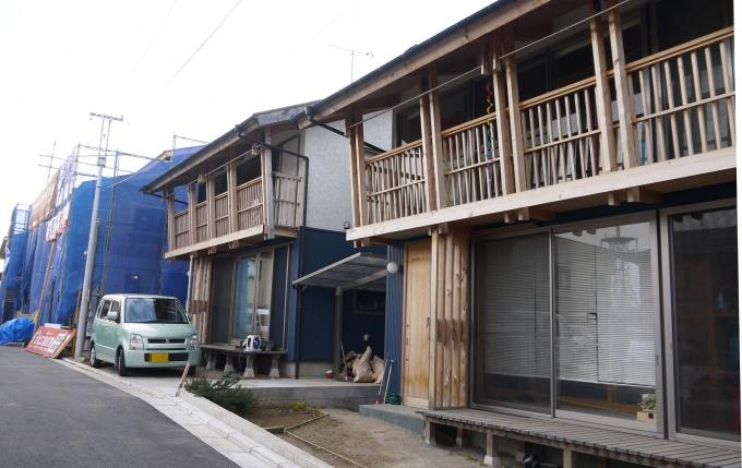 現在、12棟目の戸建て賃貸を建築中。春には完成予定だ。手前もK氏所有の賃貸物件。もはや村の様相に、村長K氏の次のアイディアは…