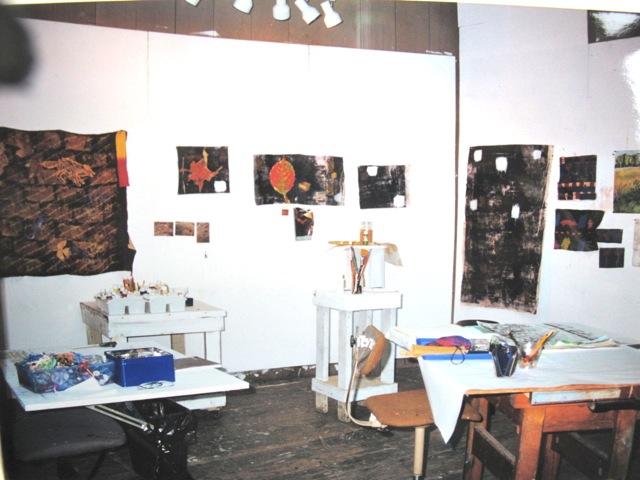 数年前に筆者が滞在したスタジオ内部