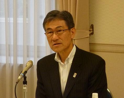 「ツーバイフォー住宅の普及拡大に努めていきたい」と話す(一社)日本ツーバイフォー建築協会新会長に就任した市川俊英氏