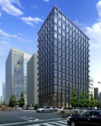 「(仮称)新・京橋MIDビル計画」外観イメージ