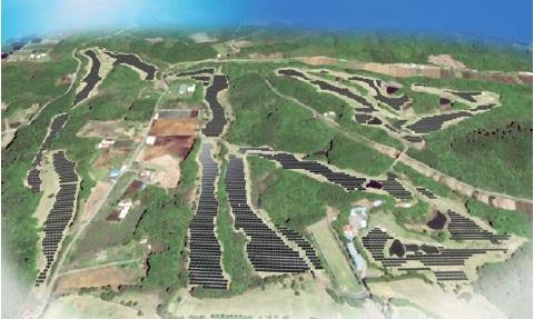 大規模太陽光発電所完成予想図