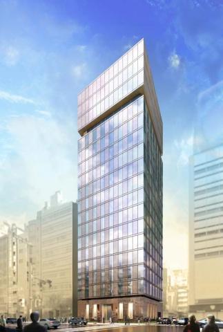 「(仮称)銀座8丁目ホテル計画」完成予想図