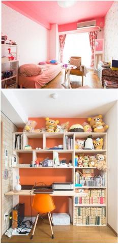カスタマイズ賃貸の実例。壁紙、床材はもちろん、家具の造作ニーズにも対応する(写真は南荘石井事務所HPより)