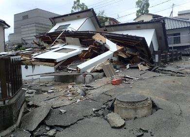 谷底低地部における家屋被害状況