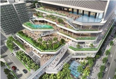 「(仮称)竹芝地区開発計画」イメージ
