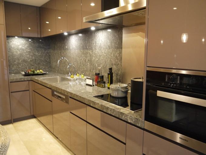 キッチンも豪華。ミーレ社製食洗機、IHクッキングヒーターなどハイクラスな設備が備えられている