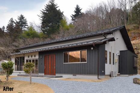 高齢化に備え、木造2階を平屋に減築した事例(リフォーム後)