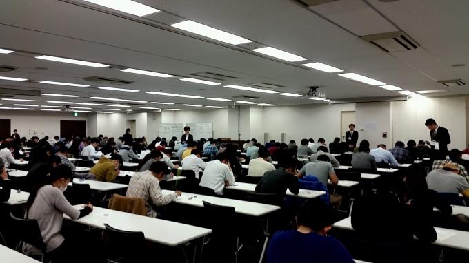 東京会場の受験風景