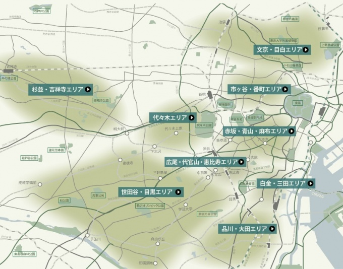 供給はいわゆる「山の手」エリアにこだわっている。今後は赤坂・青山・麻布エリア、白金・三田エリアなどでの供給を予定している