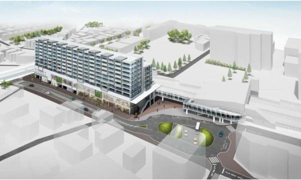 「瀬谷駅南口第1地区第一種市街地再開発事業の施設建築物のイメージ