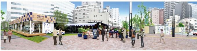 「新虎通り」にスタンド、カフェなどがオープンする