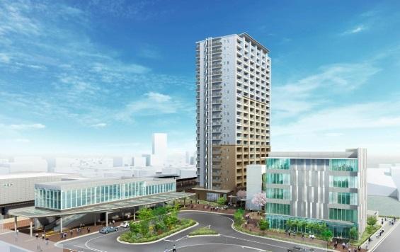 「JR春日井駅南東地区 第一種市街地再開発事業」完成イメージ
