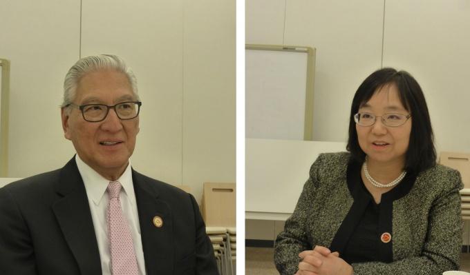 アレン M 岡本氏(写真左)とボイラン速川和子氏(写真右)